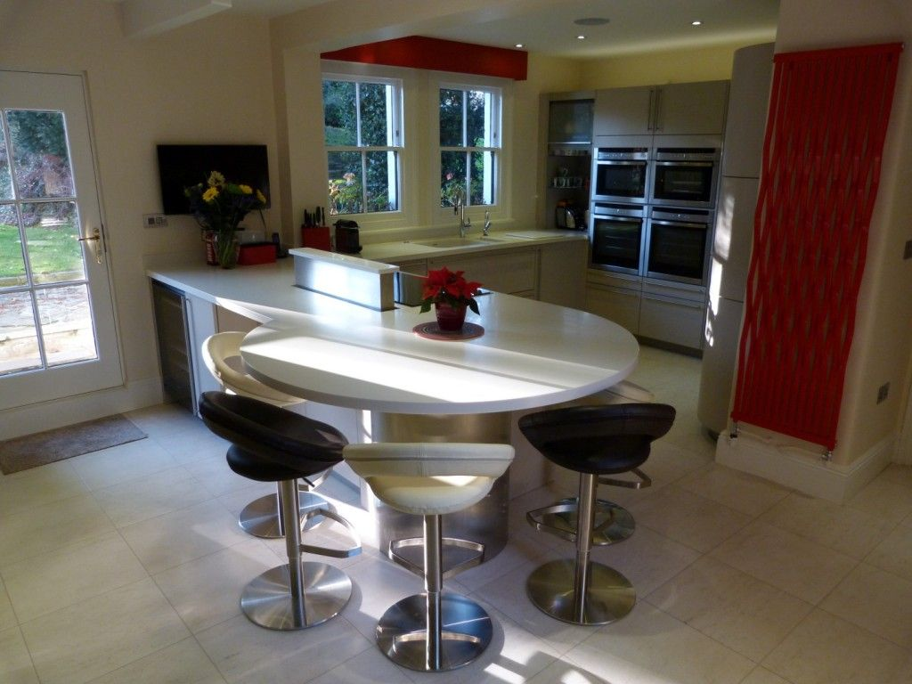 Kitchen island lyn design - Find This Pin And More On New Arhitect Ideas Great Kitchen With Rounded Breakfast Bar Design Idea