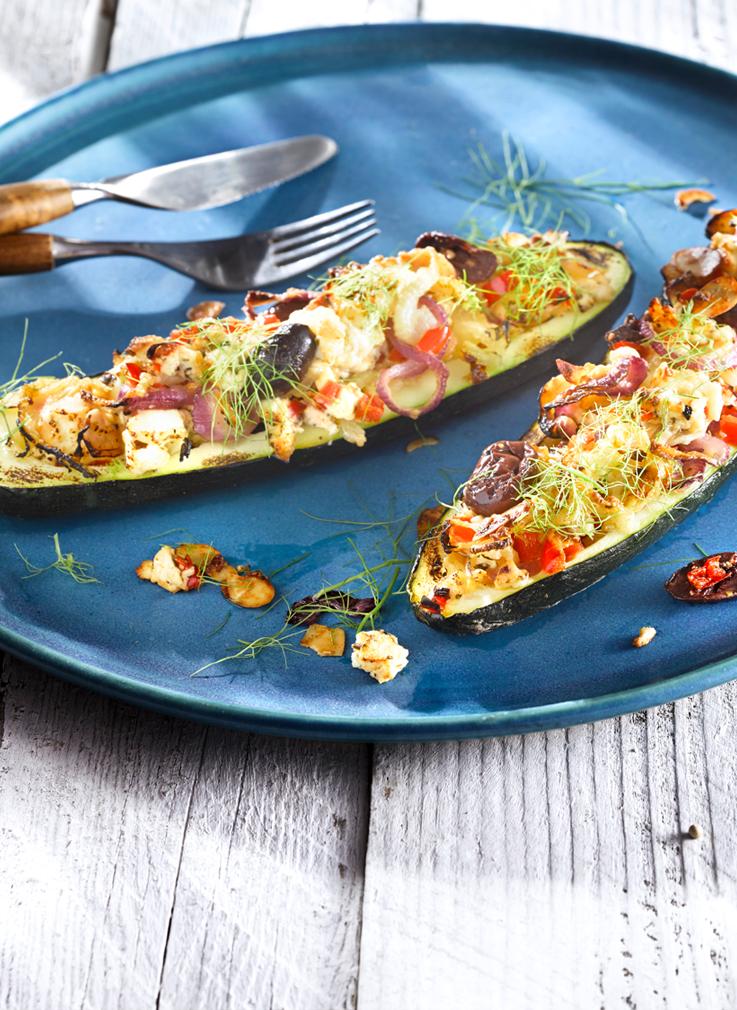 Rezept gegrillte zucchini mit feta