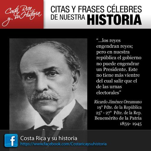 Ricardo Jimenez Oreamuno Costa Rica