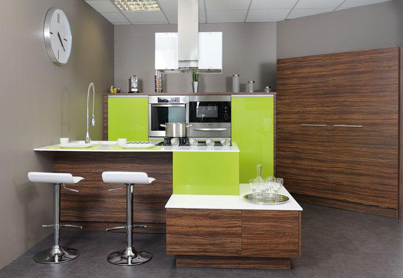cuisine quip e avec lot tons vert pomme et bois cuisines quip e pinterest cuisine. Black Bedroom Furniture Sets. Home Design Ideas
