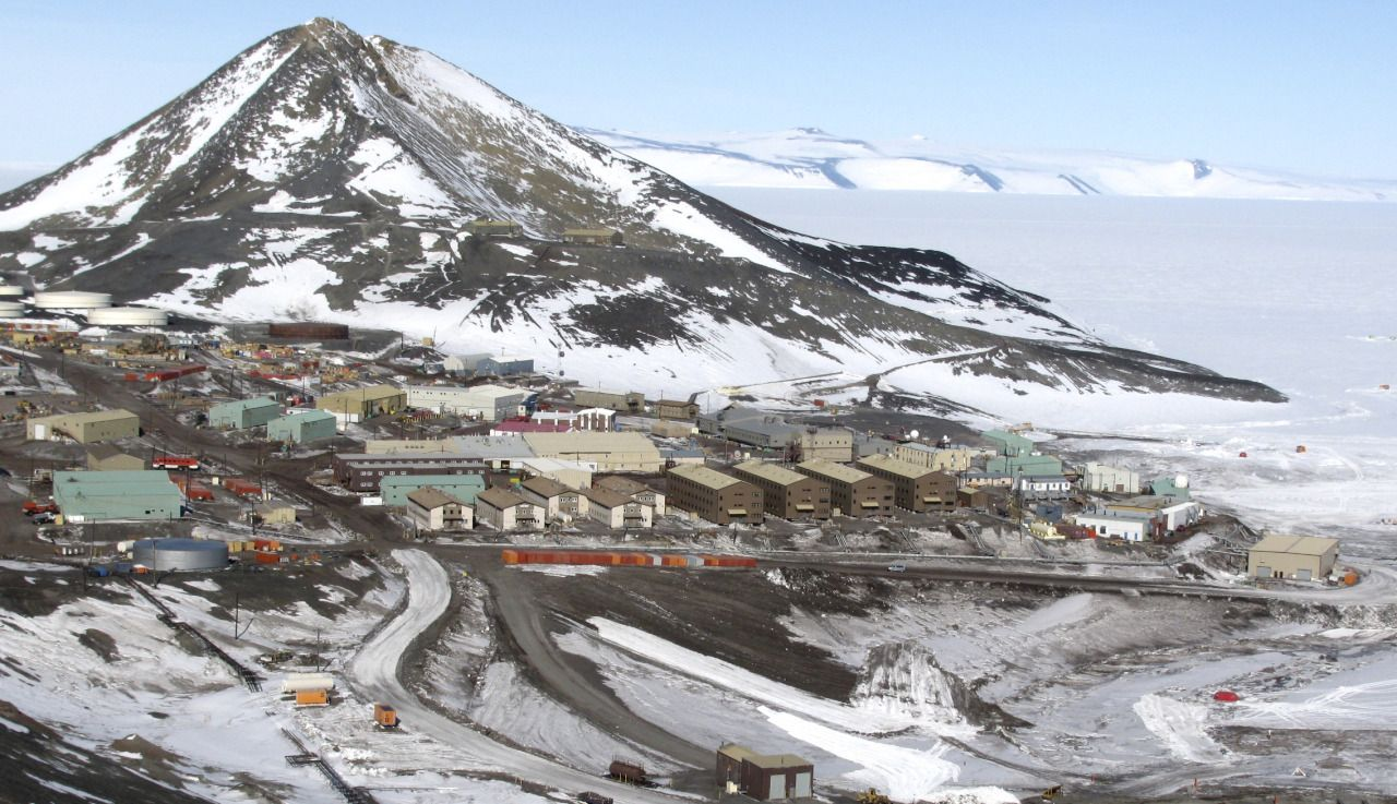 McMurdo Base, Antarctica Building 155 is one of the main