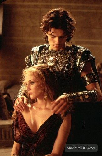 Paris And Helena Orlando Bloom And Diane Kruger In Troy Troya