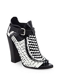 c381d0ccbbd Proenza Schouler - Woven Leather Ankle Boots