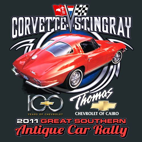 2100 Great Southern Antique Car Rally    KEN YOUNG CO    shirt design, tshirt design ideas, inspiration, event shirts, car show, vintage, collector cars, collectible, classic cars, prized cars, award winning, thomas chevrolet of cairo, georgia, corvette stingray