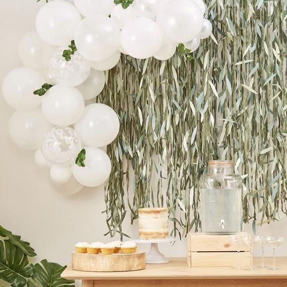 White Eucalyptus Balloon Garland Kit, Babyparty-Dekorationen, Geburtstagsfeier-Luftballons, Hen Party-Dekorationen, Hochzeitsdekorationen
