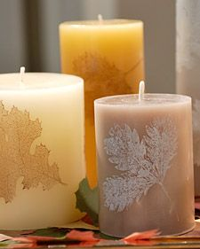 Leaf Candles How-To #DIY #Crafts