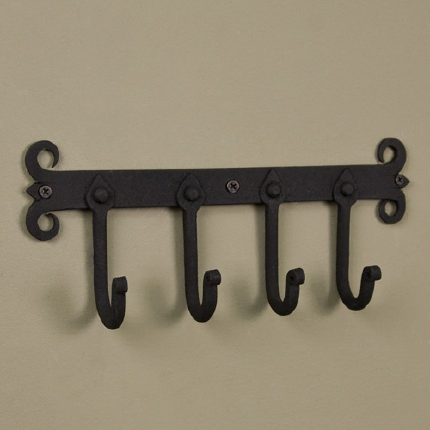 Black Iron Forged Coat Hook Mini Metal Wall Hook 6 Inches Country New