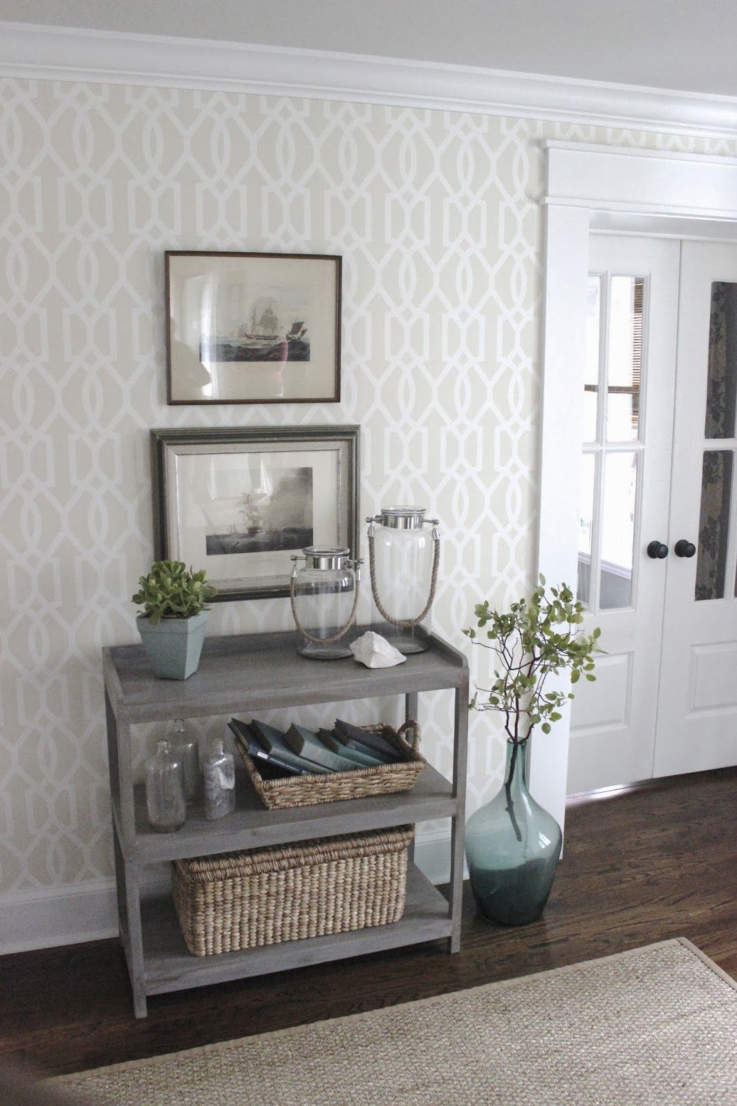 wallpaper decoration for living room curtain ideas three windows before and after part 2 the home decor design indulgence