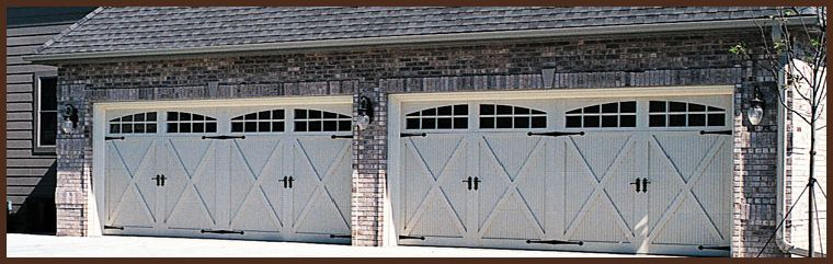 Beau CHI Model 5500 Carriage House Style Garage Door With Fiberglass Facing And  Optional Arched Stockton Windows And Decorative Hardware