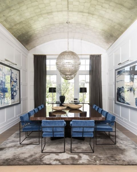 A Huge Dining Room Table With Seating For 14, Stuns In This Sophisticated  House Styled By Designers At Alice Lane Home Collection.
