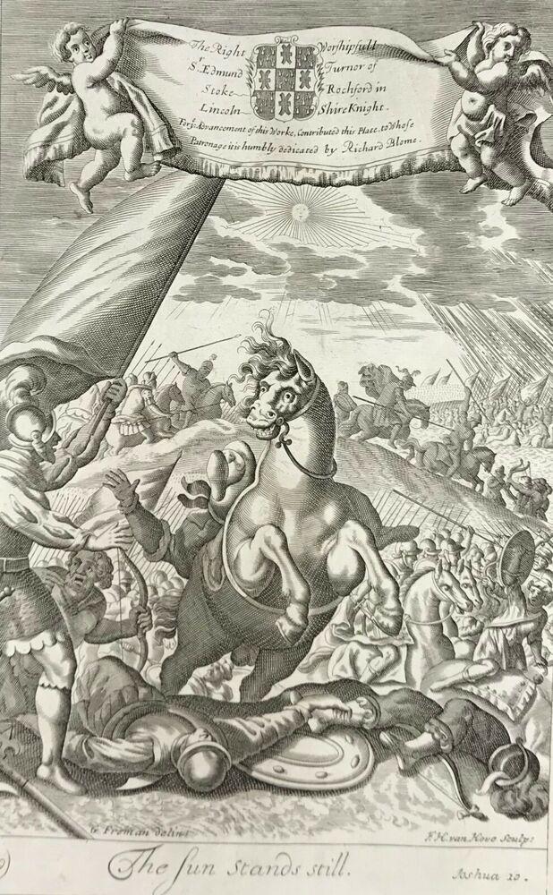 1613 KJV BIBLE LEAF SUN STANDS STILL GREAT EVENTS OF