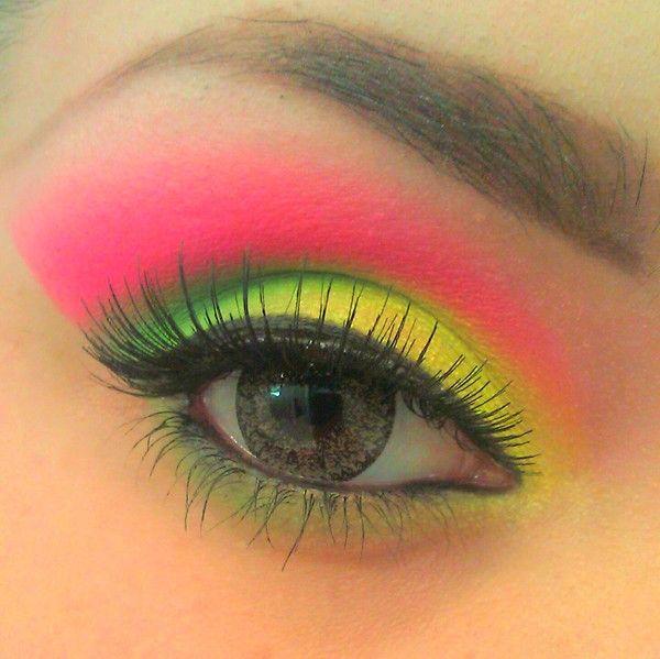 Neon Makeup Neon Makeup Crazy Makeup Beautiful Eye Makeup