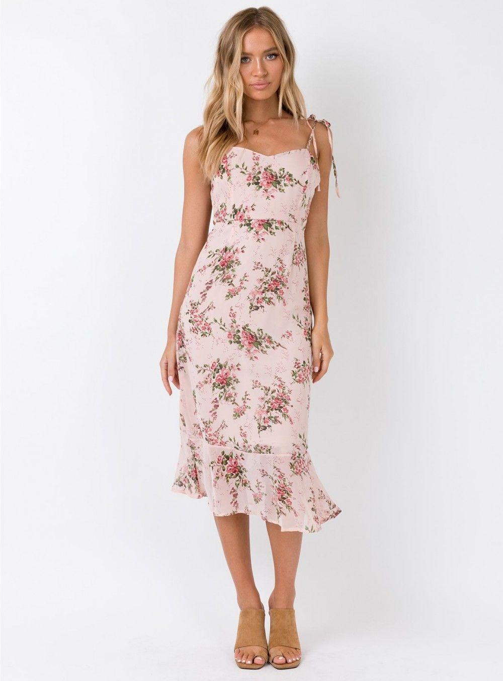 059dc78679c Kina Pink Midi Dress