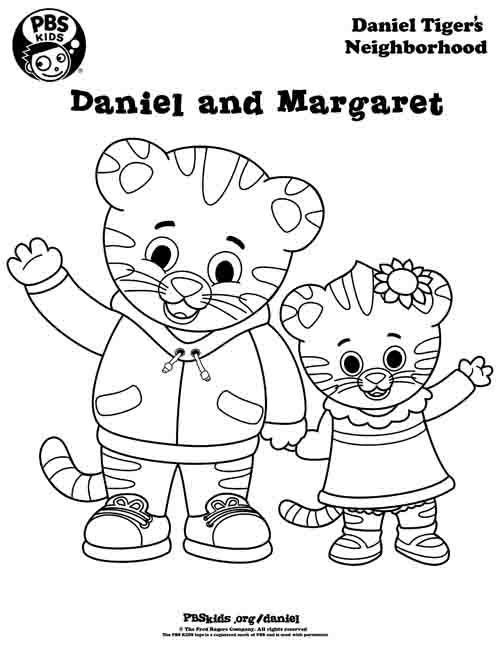 Coloring Daniel Tiger S Neighborhood Daniel Tiger Daniel Tiger Birthday Party Daniel Tiger Birthday
