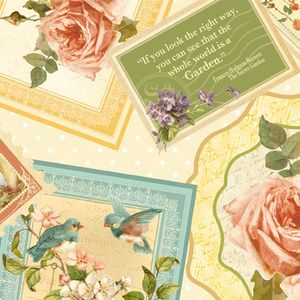 Graphic 45 - Secret Garden - Packed Cards in Ivory