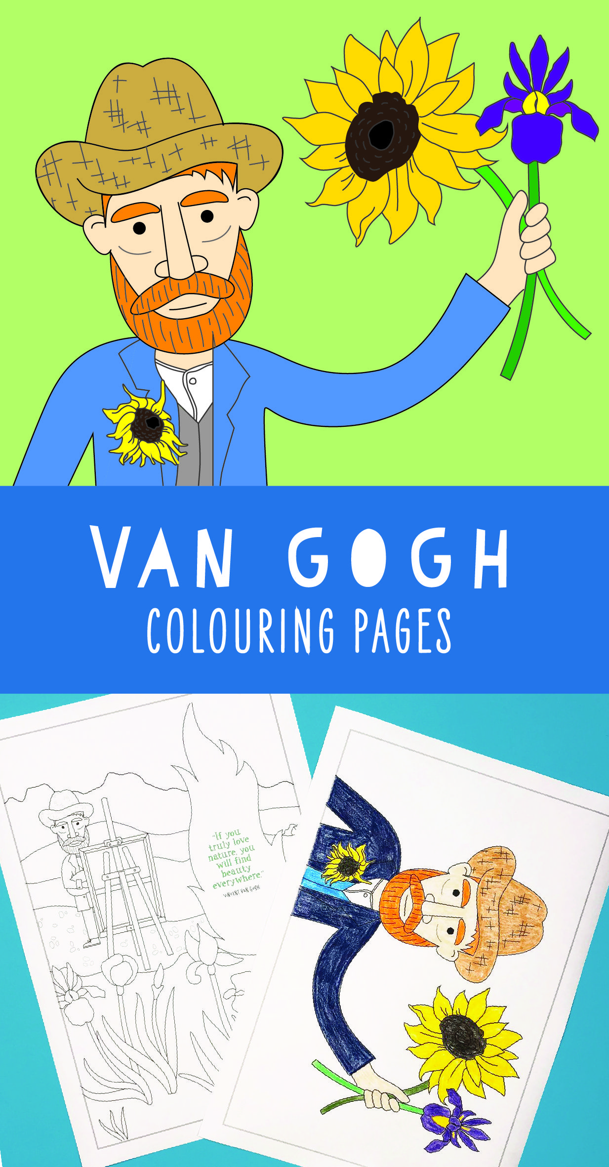 Vincent Van Gogh Coloring Pages For Kids Some Pages Also