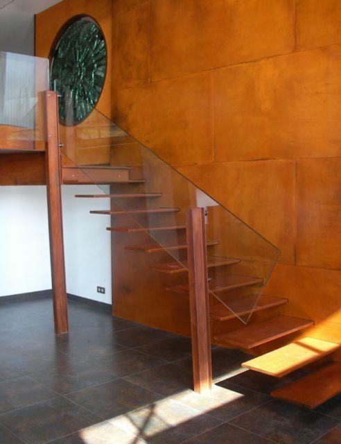 SCHAFFNER Escaliers d\u0027intérieur et monumentaux - Escalier droit à - escalier interieur de villa