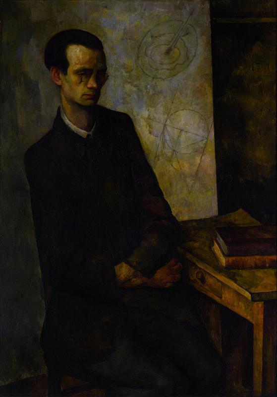 El matemático, 1918. Diego Rivera. Óleo/tela.