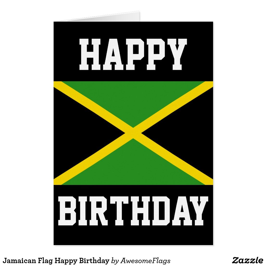 n flag happy birthday card zazzle co uk birthday cards