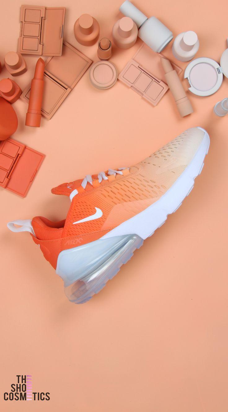 Orange Ombre Nike Air Max 270 Custom Sneakers | Orange nike