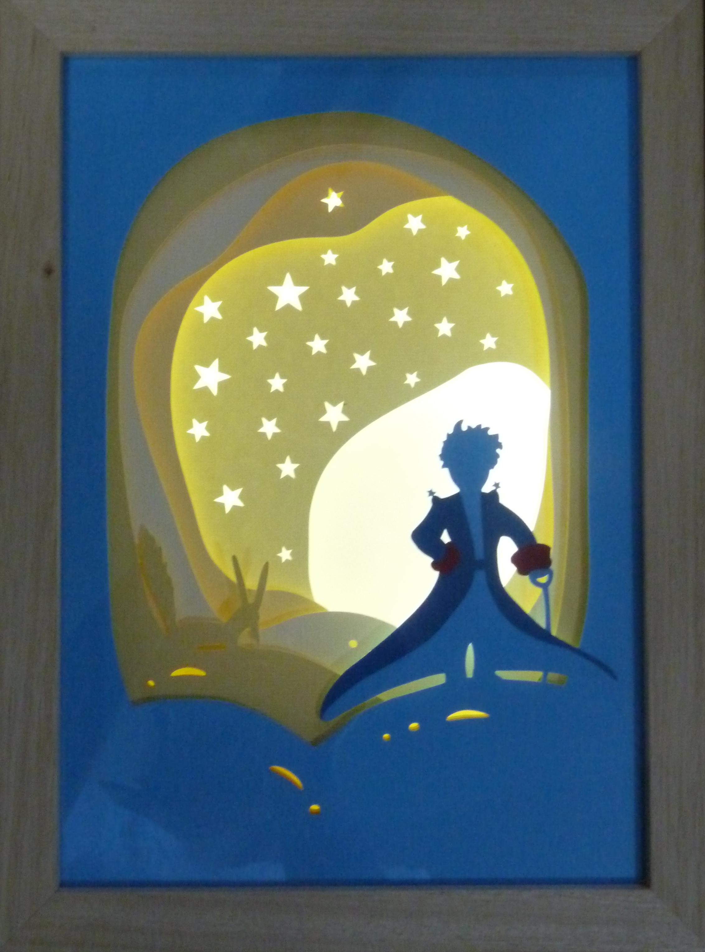 El Principito Diorama Caja De Luz Creativo Por Mis Orejas Iluminacion Cajadeluz Shadowbox Dioramas Dioramasluz Navidad Caja De Luz Dioramas Diorama