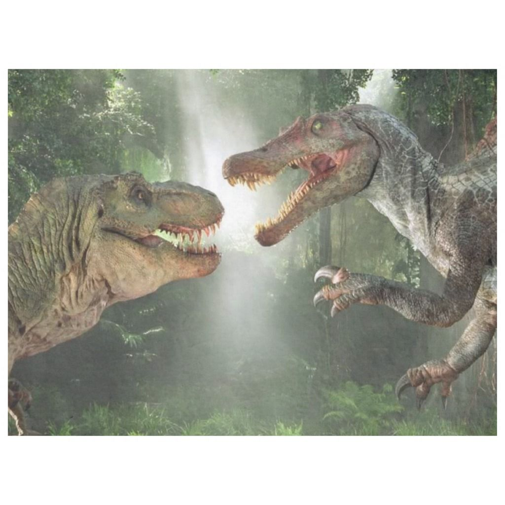 Tyrannosaurus vs Spinosaurus Fleece Blanket | Zazzle.com #dinosaurpics