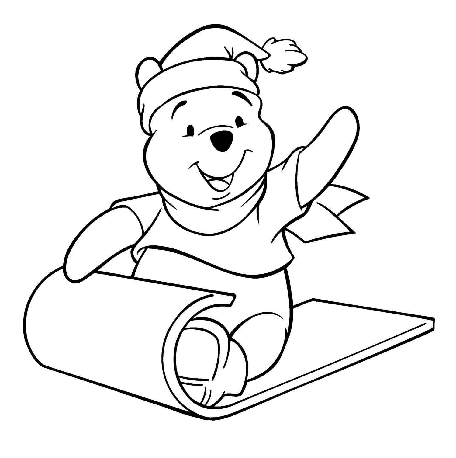 Baby winnie the pooh christmas coloring pages - Images About Winnie The Pooh Coloring Page On Pinterest Toys Piglets And Winnie The Pooh
