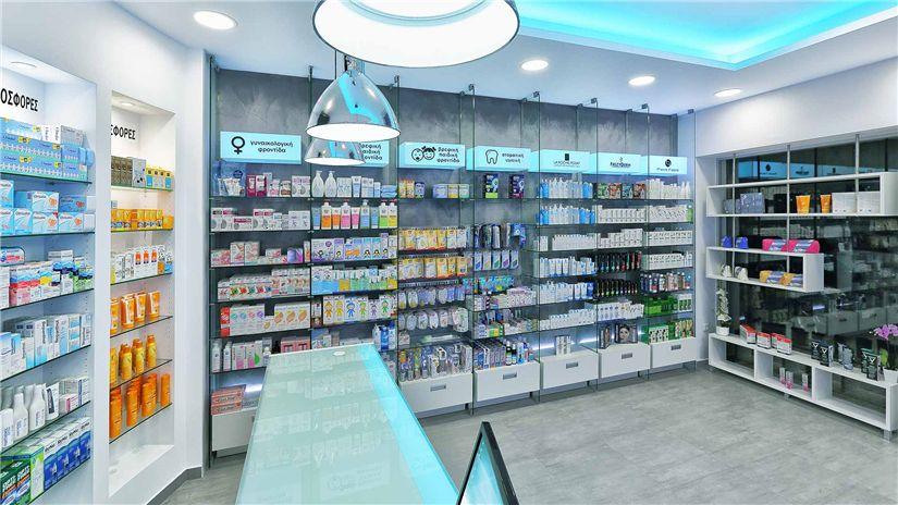 glass shelves retail pharmacy interior design 016 retail shop