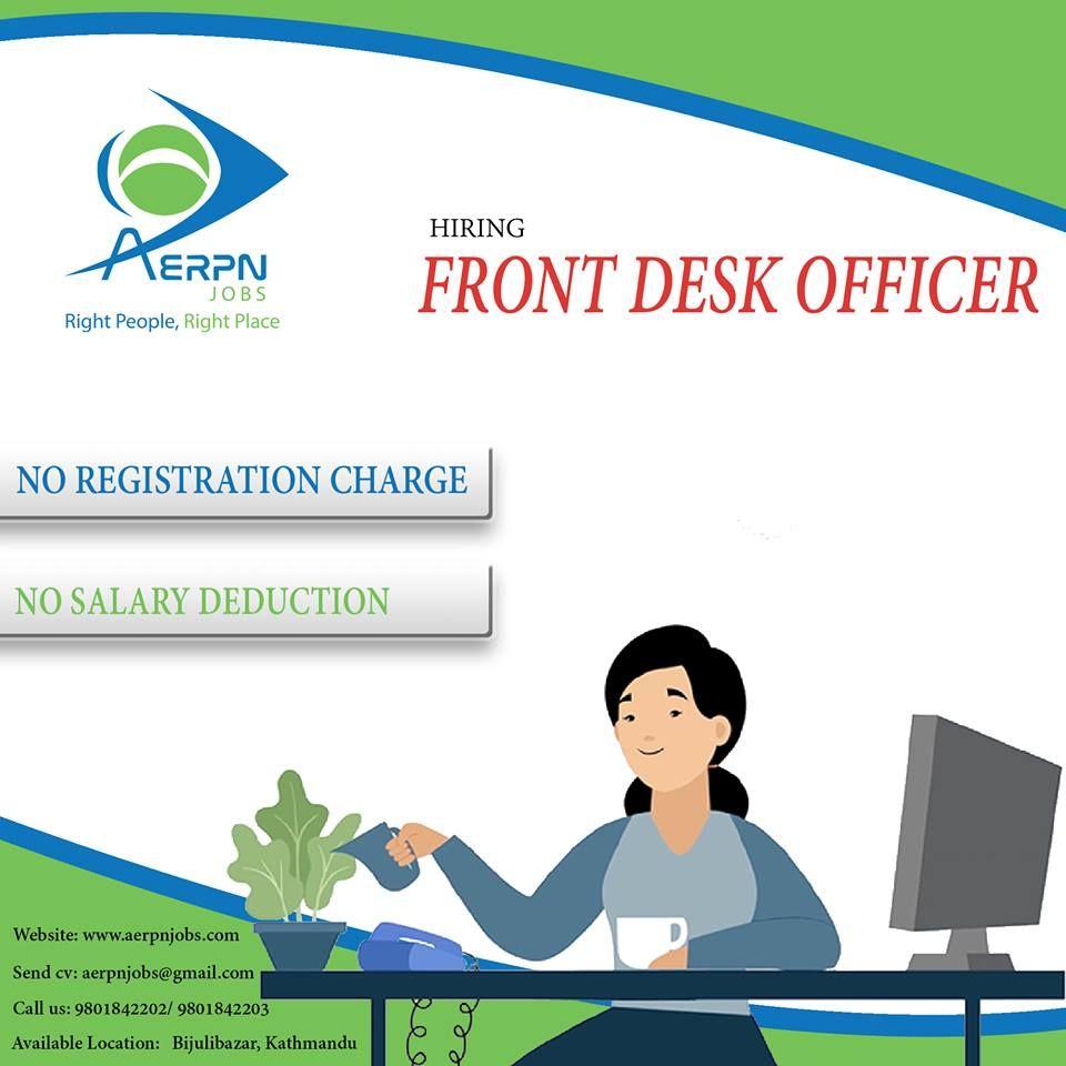 Front Desk Officer Good Communication Skills Job Opening Job