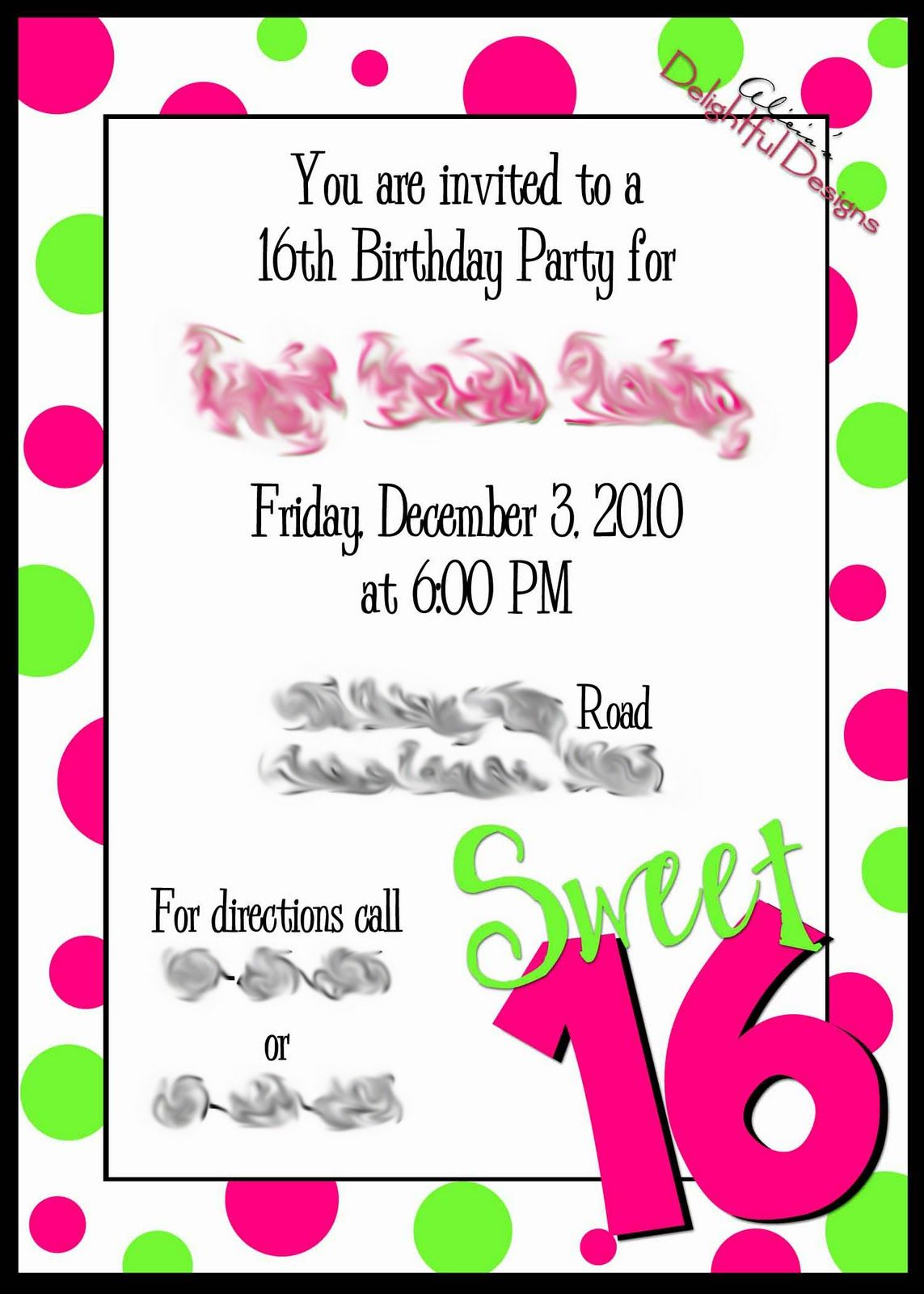 17 Best images about sweet sixteen – 16th Party Invitation Templates