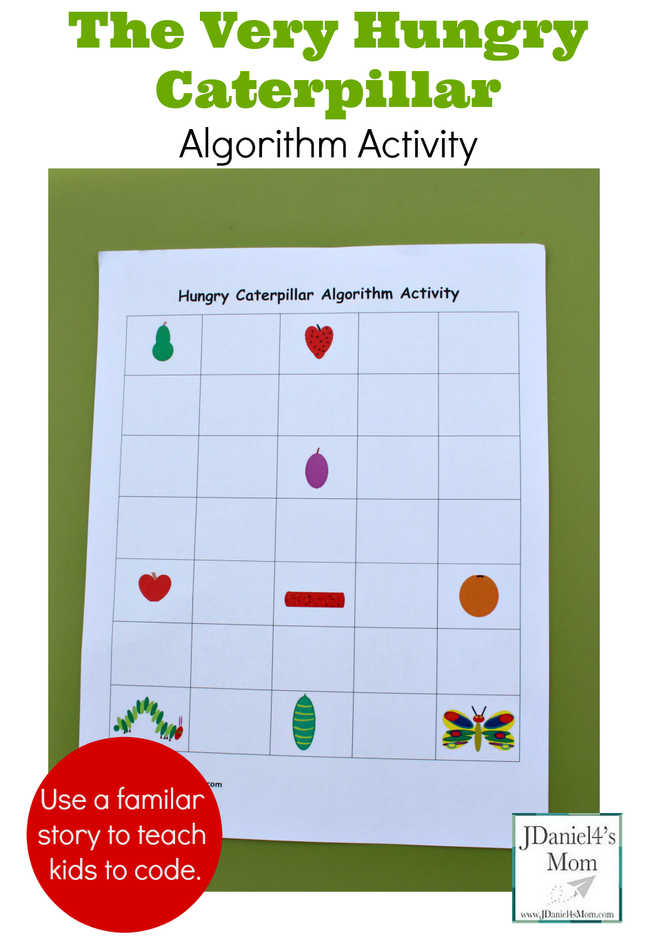 The Very Hungry Caterpillar Coding Activity Coding For Kids Unplugged Coding Activities Hungry Caterpillar [ 1362 x 940 Pixel ]