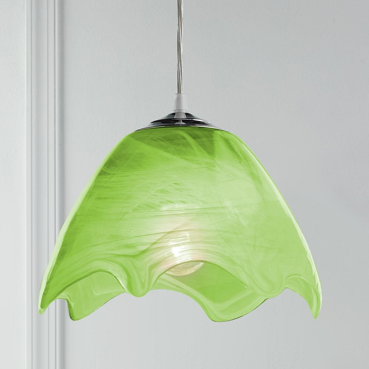 wavy glass pendant light - Glass Pendant Lighting