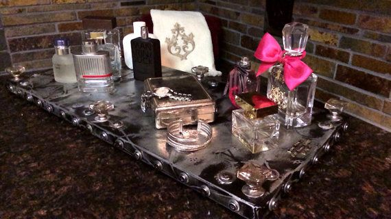Handcrafted metal tray. Piece 15. by ChicMetalByShanna on Etsy, $349.00