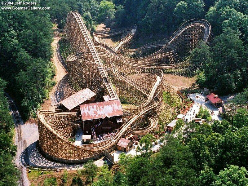 Best Wooden Roller Coaster Of All Time Thunderhead Roller