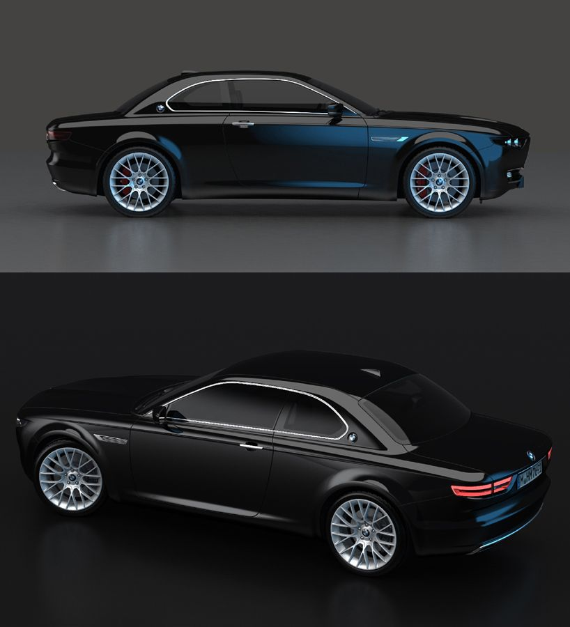Stunning Bmw Cs Vintage Concept Tribute Shows Old 1960s Design Still Works Today Carscoops Bmw Vintage Concepts Unique Cars