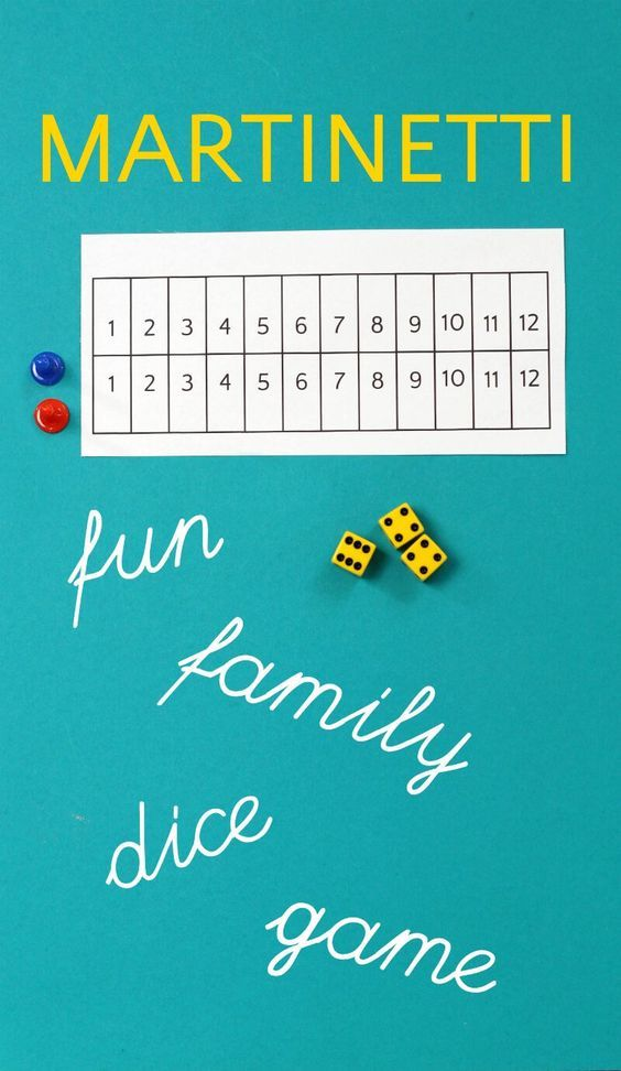 Martinetti Dice Game A Nail Biting Family Game Of Chance Math