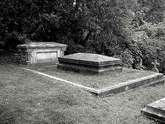 Final resting place of Mary Shelley. Legend has it she was buried with her husband's heart.
