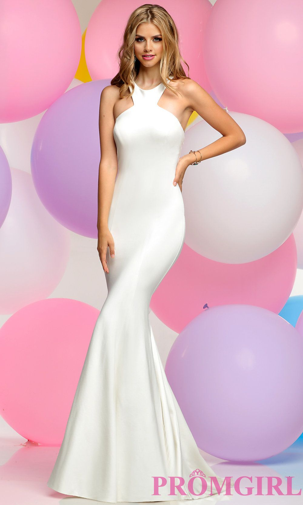Long mermaid prom dress with low cutout back prom homecoming