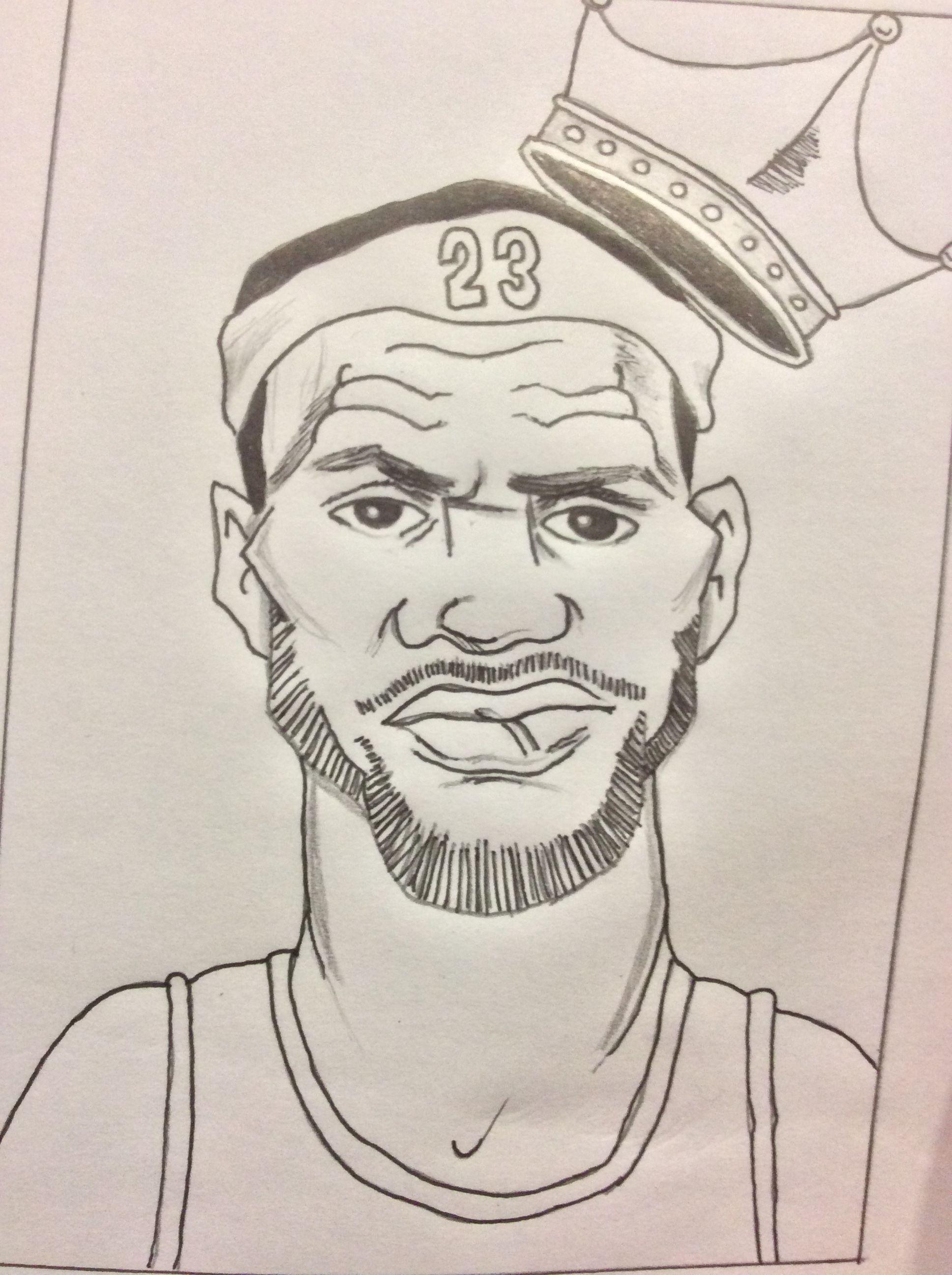 Lebron James The King Dibujos Jugadores De Baloncesto Dibujos A Lapiz