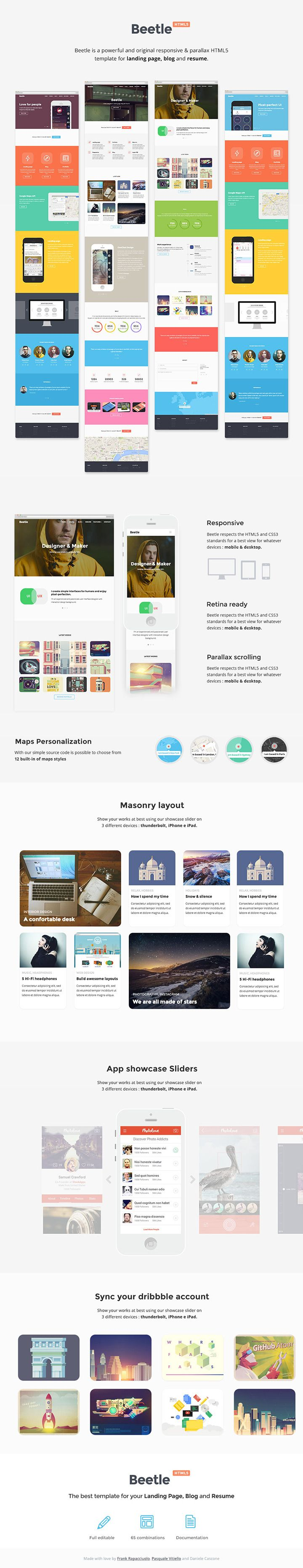 Beetle Html5 Template For Designers Freebiesbug Html5 Templates Luxury Business Cards Visiting Card Design