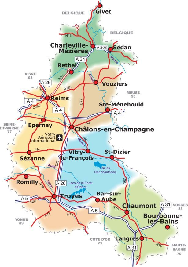 Champagne-Ardenne Map | vacation France ❤ on