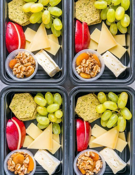 Photo of Cheese + Fruit Bistro Boxes for CLEAN Grab-n-Go Snacking!