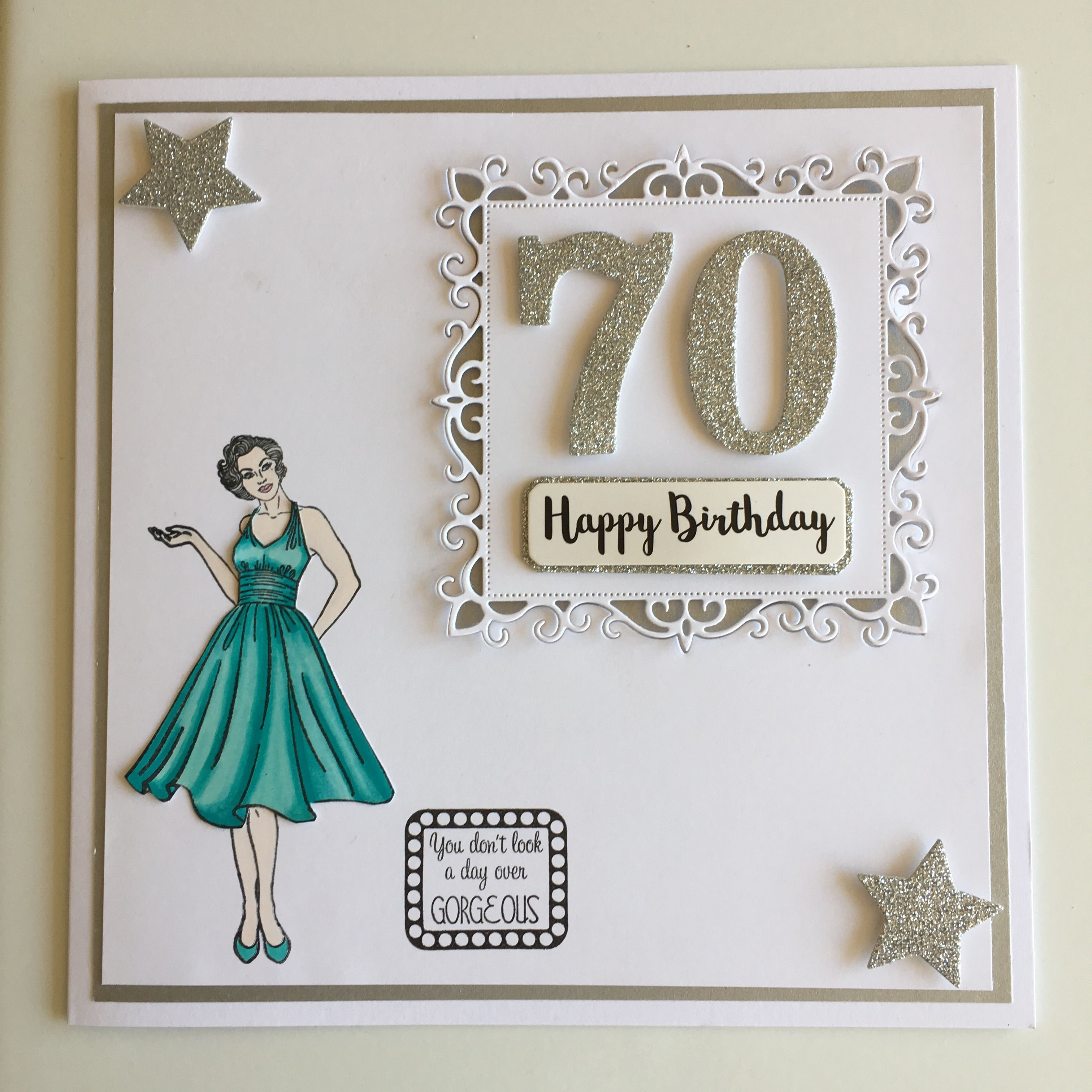 Mum S 70th Birthday Card By Fe Fe 70th Birthday Card Card Making Birthday Diy 70th Birthday Cards