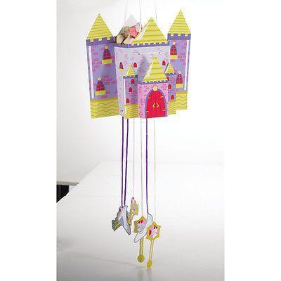 Castle Fun Pull String Pinata Pk 1
