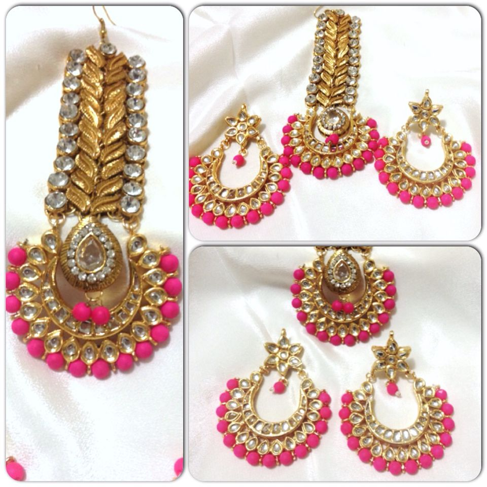 with gothic emo artisan beads grenade fullxfull products weapon pun earrings neon pink earring il