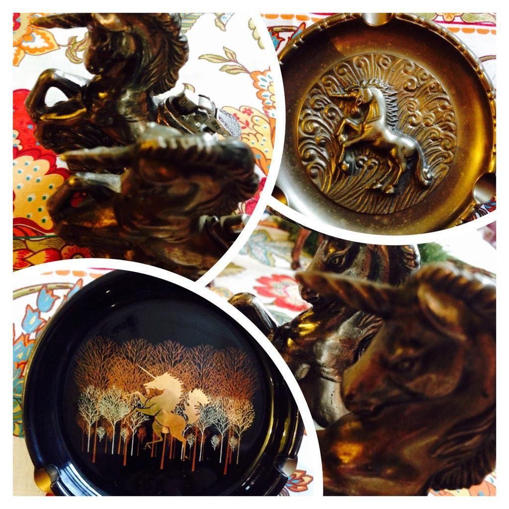 #unicorns #pdx #vintage #ashtrays #merwins #vapecommunity