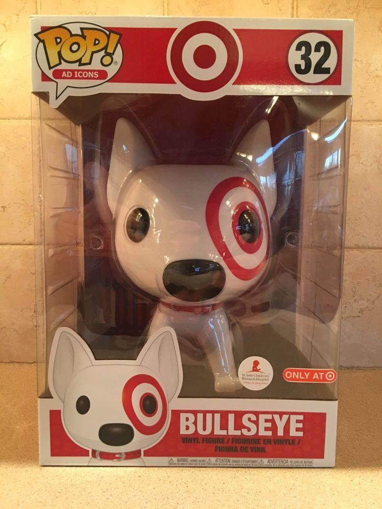 "Funko Pop Target Exclusive Mascot Bullseye 10"" Vinyl Ready"