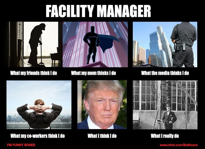 The different views of a facility manager. | Humor | Manager humor, Facility management