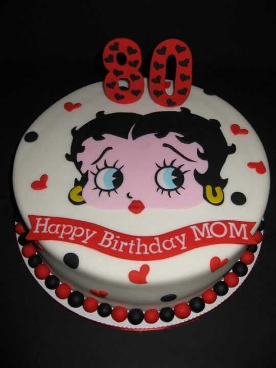 Tremendous 80Th Betty Boop Cake Doop Birthday Cards Printable Opercafe Filternl