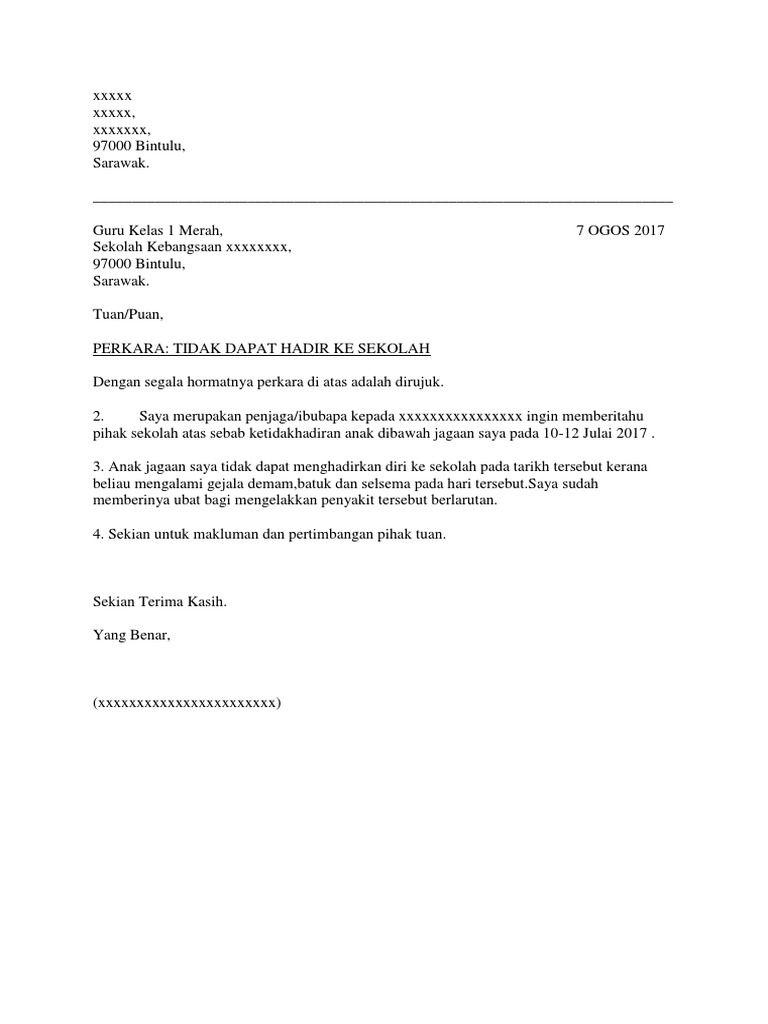 Contoh Surat Tunjuk Sebab Tidak Hadir Kuliah Download Kumpulan Gambar